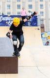 Agresywna rollerblading rywalizacja, festiwal uliczna kultura Zdjęcie Royalty Free