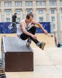 Agresywna rollerblading rywalizacja, festiwal uliczna kultura Zdjęcia Royalty Free