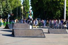 Agresywna rollerblading rywalizacja wydarzenia społeczeństwo Fotografia Royalty Free