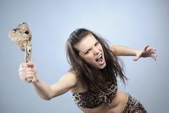 agresywna walcząca kobieta Zdjęcia Stock