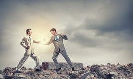 Agresywne biznesowe taktyki Zdjęcia Royalty Free