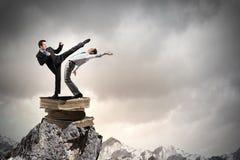 Agresywne biznesowe taktyki Zdjęcie Royalty Free