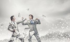 Agresywne biznesowe taktyki Obrazy Stock