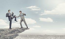 Agresywne biznesowe taktyki Fotografia Royalty Free