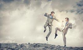 Agresywne biznesowe taktyki Obraz Royalty Free