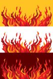agresywne języki płomieni. Zdjęcie Stock