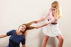 Agresywne szalenie kobiety walczy each inny Fotografia Stock