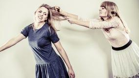 Agresywne szalenie kobiety walczy each inny Zdjęcie Royalty Free