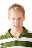 agresywni mężczyzna portreta potomstwa Obrazy Stock