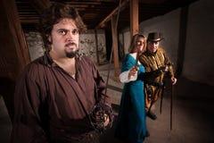 Agresywni Średniowieczni charaktery Zdjęcia Stock
