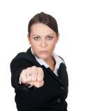 agresywny bizneswoman Obrazy Royalty Free