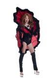 Agresywny dziewczyny pozować ubieram jako królowa pająki Obrazy Stock
