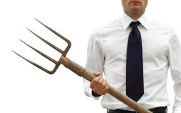 Agresywny i gniewny biznesmen Zdjęcie Stock