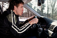 agresywny kierowca Obraz Royalty Free