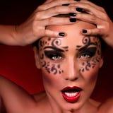 Agresywny kobieta portret Zdjęcie Stock