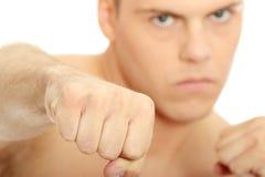 agresywny mężczyzna Fotografia Stock