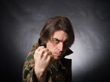 agresywny mężczyzna Zdjęcie Stock