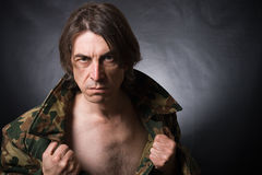 agresywny mężczyzna Fotografia Royalty Free