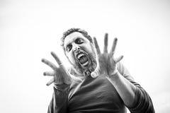 Agresywny mężczyzna Halloween Fotografia Royalty Free