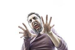 Agresywny mężczyzna strach Fotografia Royalty Free