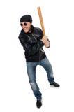 Agresywny mężczyzna z kijem bejsbolowym Obrazy Royalty Free