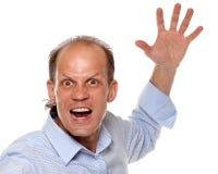 Agresywny młodego człowieka krzyczeć Fotografia Stock