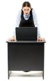 Agresywny młody bizneswoman Zdjęcie Royalty Free