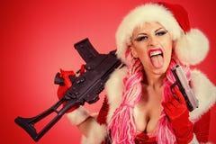 Agresywny pistolet Fotografia Stock