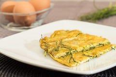Agretti omelett Fotografering för Bildbyråer