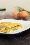 Agretti omlety Fotografia Royalty Free