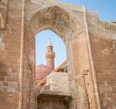 Agri,土耳其- 2013年9月29日:从Ishak巴夏宫殿(Ä°shak帕沙Sarayi)的内部场面 免版税库存照片