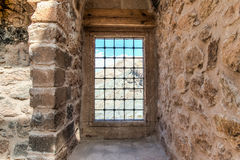 Agri,土耳其- 2013年9月29日:从Ishak巴夏宫殿ishak帕沙Sarayi的内部场面 免版税库存图片