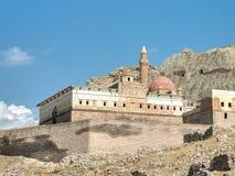 Agri,土耳其- 2013年9月29日:Ishak巴夏宫殿在多乌巴亚泽特附近的ishakpasa sarayi在东土耳其 图库摄影