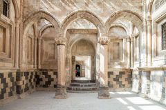 Agri, Turquie - 29 septembre 2013 : Scène intérieure d'Ishak Pasha Palace (Ä°shak Pasa Sarayi) image stock