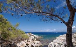 Agriate wybrzeże w Corsica Fotografia Royalty Free
