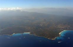 Agriates wybrzeże w Corsica Obrazy Stock