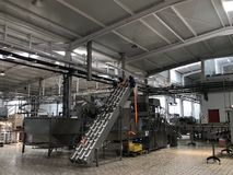 Agribusiness Facility. New olives factory royalty free stock photos