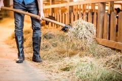 Agricoltore al granaio Immagine Stock Libera da Diritti
