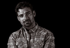 Agricoltore americano bello Fotografia Stock Libera da Diritti
