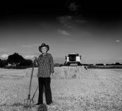 Agricoltore anziano al raccolto Fotografie Stock