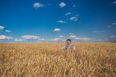 Agricoltore anziano caucasico sorridente felice Immagini Stock Libere da Diritti