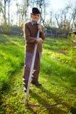 Agricoltore anziano con la falce Fotografia Stock Libera da Diritti