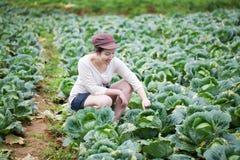Agricoltore asiatico della ragazza Fotografia Stock Libera da Diritti