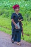 Agricoltore birmano nel Myanmar Fotografia Stock