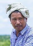 Agricoltore birmano nel Myanmar Fotografie Stock Libere da Diritti