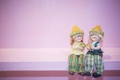 Agricoltore ceramico Dolls Fotografia Stock