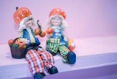 Agricoltore ceramico Dolls Fotografia Stock Libera da Diritti