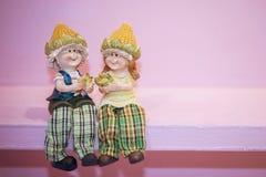Agricoltore ceramico Dolls Immagini Stock