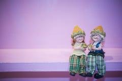 Agricoltore ceramico Dolls Immagine Stock