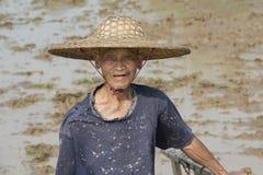 Agricoltore cinese Immagini Stock